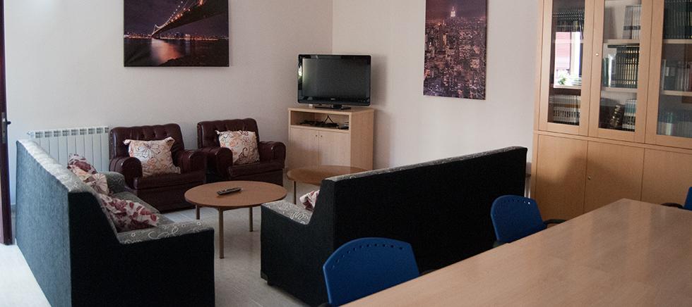 Salón de la residencia de estudiantes en Zamora